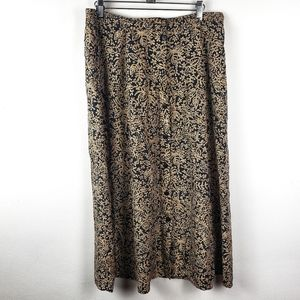 Vintage Anne & Frank Silk Button Front Maxi Skirt